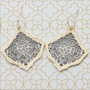 NEW KENDRA SCOTT GOLD / SILVER KIRSTEN EARRINGS